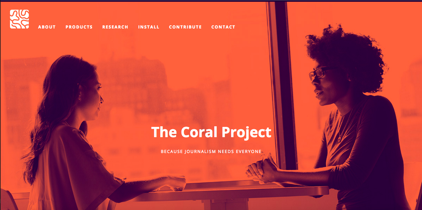 coral landing page